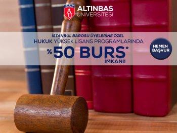 İstanbul Barosuna Özel %50 Burs İmkanı